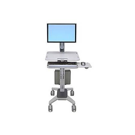 Ergotron WorkFit-C Sit-Stand Workstation, Gray
