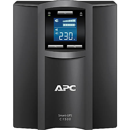 APC by Schneider Electric Smart-UPS C 1500VA LCD 230V - Tower - 3 Hour Recharge - 8 Minute Stand-by - 230 V AC Output