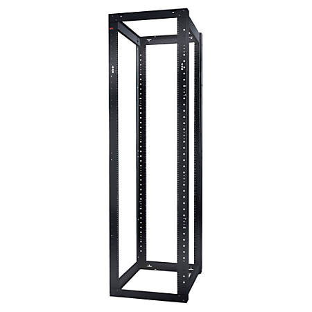 Schneider Electric NetShelter 4 Post Open Frame Rack 44U #12-24 Threaded Holes