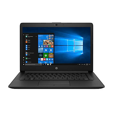 "HP 14-cm0010nr - E2 9000e / 1.5 GHz - Windows 10 Home - 4 GB RAM - 500 GB HDD - 14"" 1366 x 768 (HD) - Radeon R2 - Wi-Fi, Bluetooth - HP finish in jet black with a maglia texture - kbd: US"