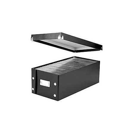 "Snap-N-Store® CD/DVD Storage Box, 15 3/4"" x 7 5/8"" x 5 1/2"", Black"