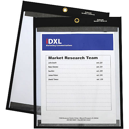 C-Line Magnetic Shop Ticket Holders, Stitched - 9 x 12, 25/CT, 85912
