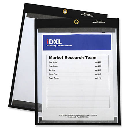 "C-Line Sewn Vinyl Shop Ticket Holder - 9"" Width x 12"" Length Sheet Size - Vinyl - Clear - 25 / Carton"""