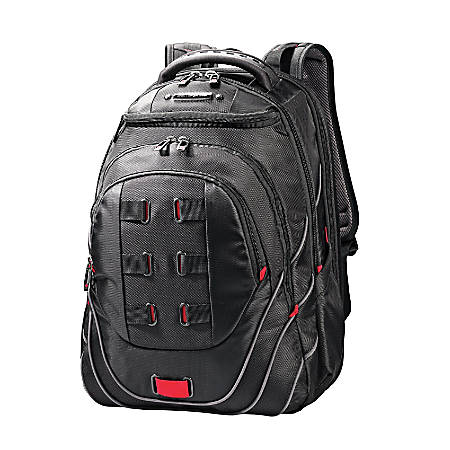 0966aa0f620f Samsonite Tectonic PerfectFit Laptop Backpack BlackRed - Office Depot