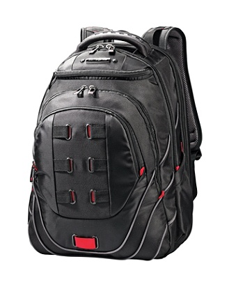 Samsonite Tectonic Perfectfit Laptop Backpack For 17 Laptops Blackred By Office Depot Officemax