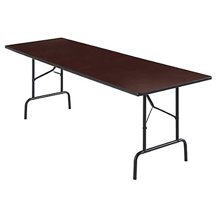 "Realspace® Folding Table, 8' Wide, 29""H x 96""W x 30""D, Walnut"