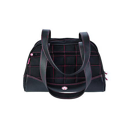 Sumo Duffel - Small - duffle bag - ballistic nylon, faux leather - black with pink stitching