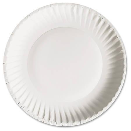 ajm packaging green label economy paper plates 9 diameter plate paper microwave safe white 1000. Black Bedroom Furniture Sets. Home Design Ideas