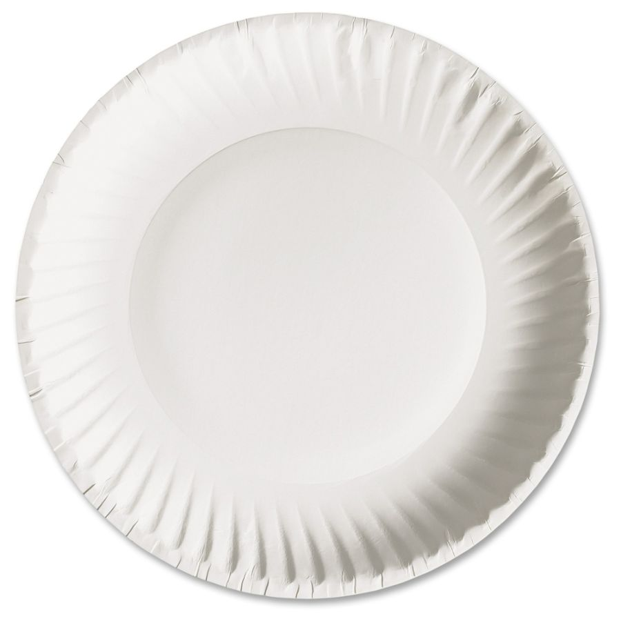 AJM Packaging Green Label Economy Paper Plates 9 Diameter Plate Paper Microwave Safe White 1000 Pieces Carton by Office Depot \u0026 OfficeMax  sc 1 st  Office Depot & AJM Packaging Green Label Economy Paper Plates 9 Diameter Plate ...