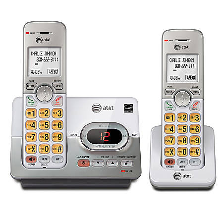 AT&T EL52203 2 Handset Expandable Phone System With Digital Answering System
