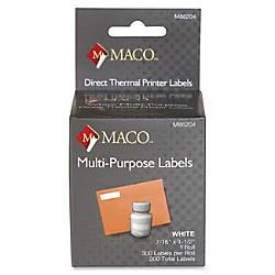 MACO Direct Thermal White Multi purpose
