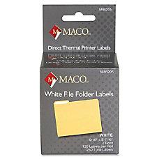 MACO Direct Thermal White File Folder