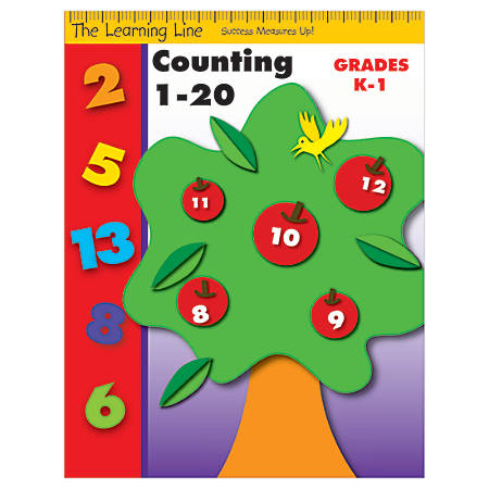 Evan-Moor® Learning Line: Counting 1 To 20, Grades K-1