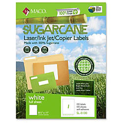 MACO LaserInk JetCopier Sugarcane Full Sheet
