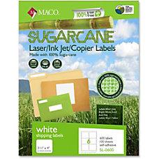 MACO LaserInk JetCopier Sugarcane Shipping Labels