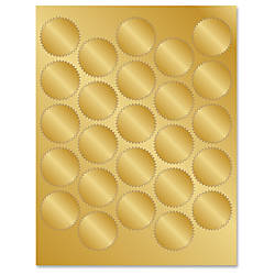 Geographics Gold Foil Seals Self adhesive