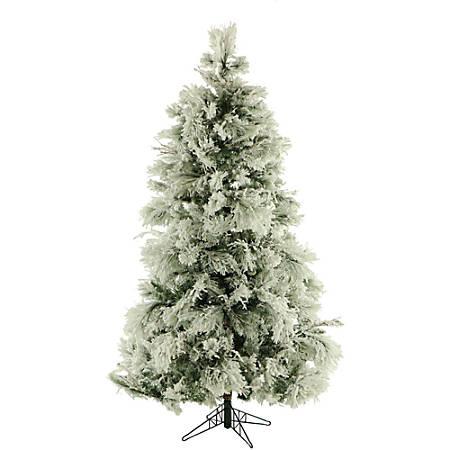 Fraser Hill Farm Flocked Snowy Pine Christmas Tree, 12', Unlit
