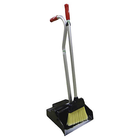 Unger Ergo Dustpan With Broom, Black/Silver/Red