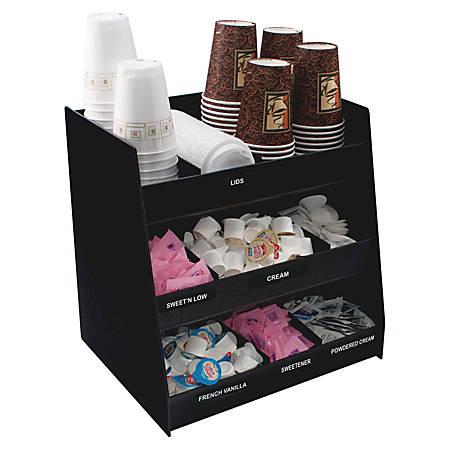 Vertiflex vertical condiment organizer by office depot for Vertical silverware organizer