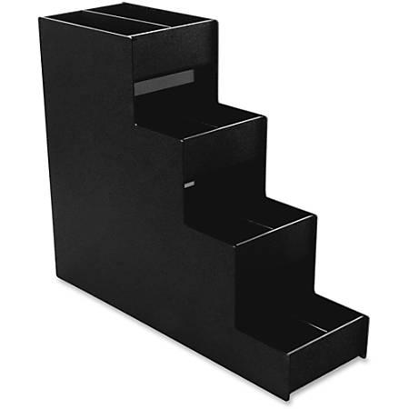 "Vertiflex™ Narrow Condiment Organizer, 8 Compartments, 6"" x 19"" x 15 7/8"", Black"