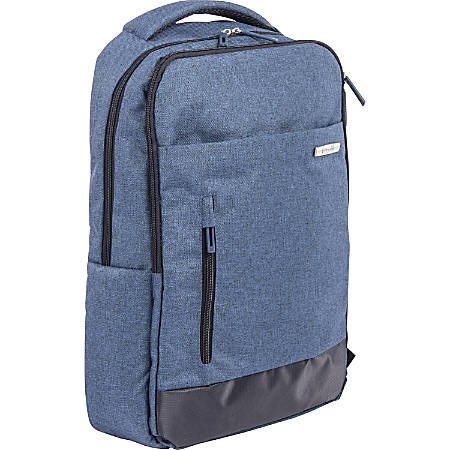 "bugatti Carrying Case (Backpack) for 15.6"" Notebook - Blue - Polyster - Shoulder Strap - 18"" Height x 13"" Width x 11.5"" Depth"