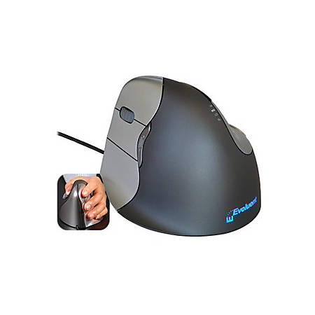 Evoluent VerticalMouse Left-Hand Optical Mouse