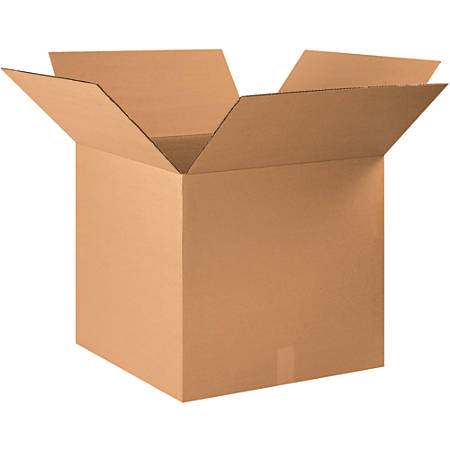 """Office Depot® Brand Corrugated Boxes, 20""""H x 20""""W x 22""""D, 15% Recycled, Kraft, Bundle Of 15"""