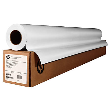 "HP Semi-Gloss Wide-Format Universal Photo Paper, 50"" x 100', 107 Brightness, FSC Certified, White"
