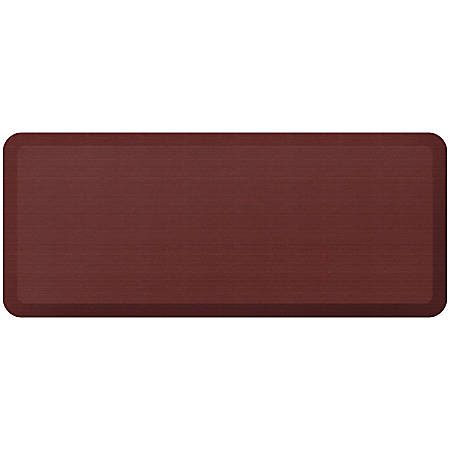 "GelPro NewLife Designer Comfort Grasscloth Anti-Fatigue Floor Mat, 20"" x 48"", Crimson"
