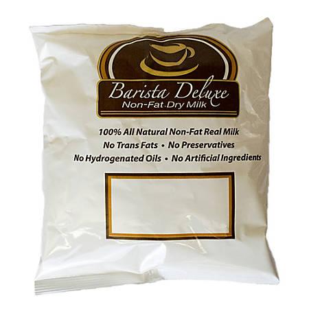 Barista Deluxe Nonfat Dry Milk Powder, 16 Oz Per Bag, Case Of 12 Bags