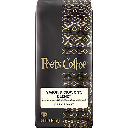 Peet's Coffee & Tea Major Dickason's Ground Coffee, 16 Oz