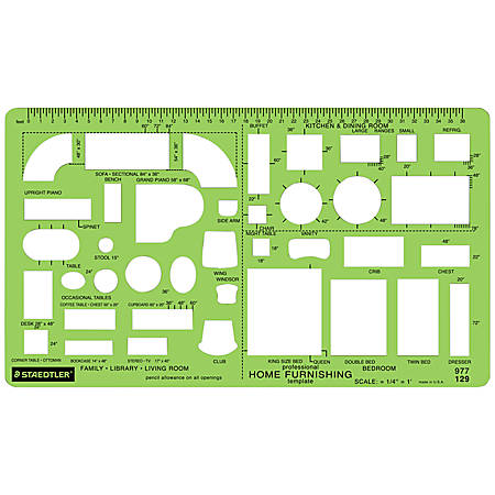 Staedtler® Mars® Template, House Furnishings