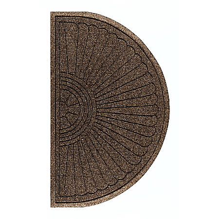 "M + A Matting  Waterhog Eco Grand Premier Half-Oval Floor Mat, 72"" x 39 5/8"", Chestnut Brown"
