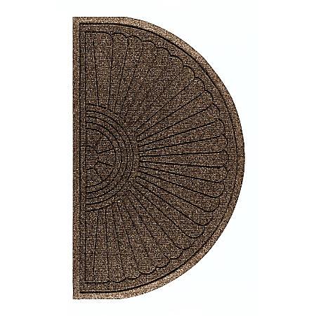"""The Andersen Company Waterhog Eco Grand Premier Half-Oval Floor Mat, 72"""" x 39 5/8"""", Chestnut Brown"""