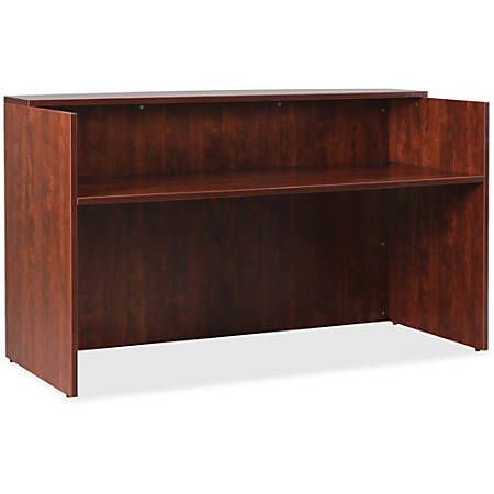 "Lorell® Essentials Series Reception Desk, 72""W x 36""D, Cherry"