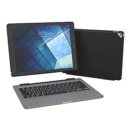 ZAGG Slim Book - Keyboard and folio case - backlit - Bluetooth - black - for Apple 12.9-inch iPad Pro (1st generation, 2nd generation)