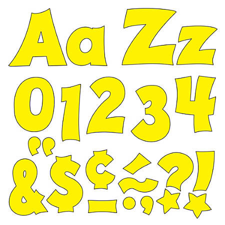 """TREND Ready Letters®, Friendly Uppercase/Lowercase Combo, 4"""", Yellow, Pre-K - Grade 12, Pack Of 225"""