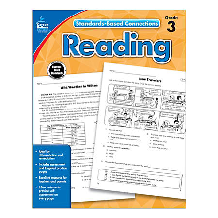 Carson-Dellosa Standards-Based Connections Reading Workbook, Grade 3