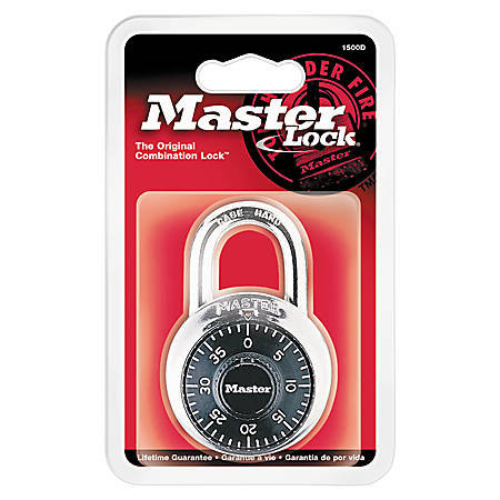 Master Lock® Combination Padlock, Black, Pack Of 2