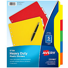 Avery Heavy Duty Plastic Dividers With