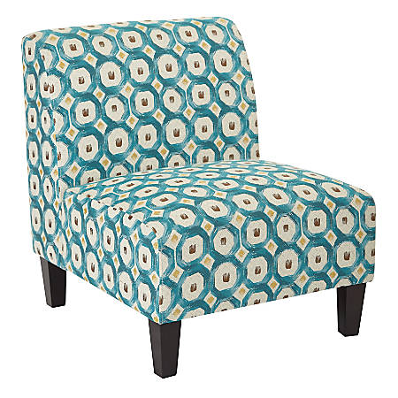 Ave Six Magnolia Accent Chair, Geo Dot Teal/Black