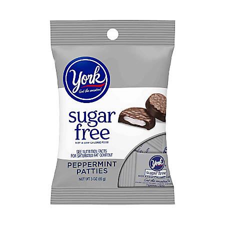 YORK Peppermint Pattie Miniatures, Peg Bag, 3 Oz, Pack Of 12 Bags