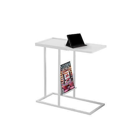 Monarch Specialties Magazine Accent Table, Rectangular, White