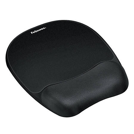 Fellowes® Gel Wrist Rest/Mouse Pad, Fabric, Black