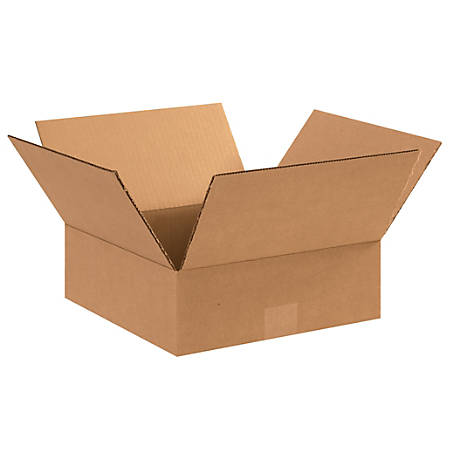 "Office Depot® Brand Corrugated Boxes, 4""H x 11""W x 11""D, Kraft, Pack Of 25"
