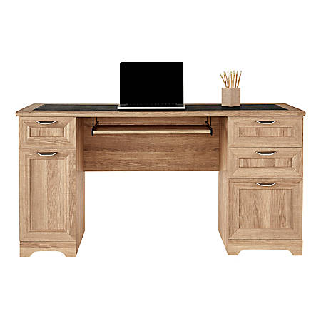 Realspace® Magellan Managers Desk, Blonde Ash