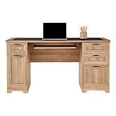 Realspace Magellan Managers Desk Blonde Ash