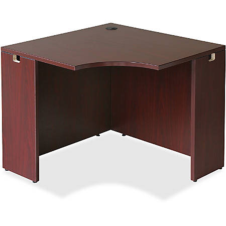 "Lorell® Essentials Series Corner Desk, 36""W, Mahogany"