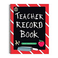 Teacher Created Resources Chalkboard Teacher Record