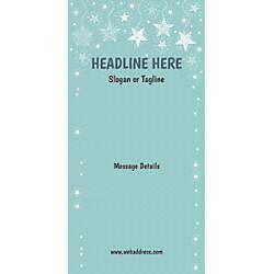 Custom Vertical Display Banner Stars